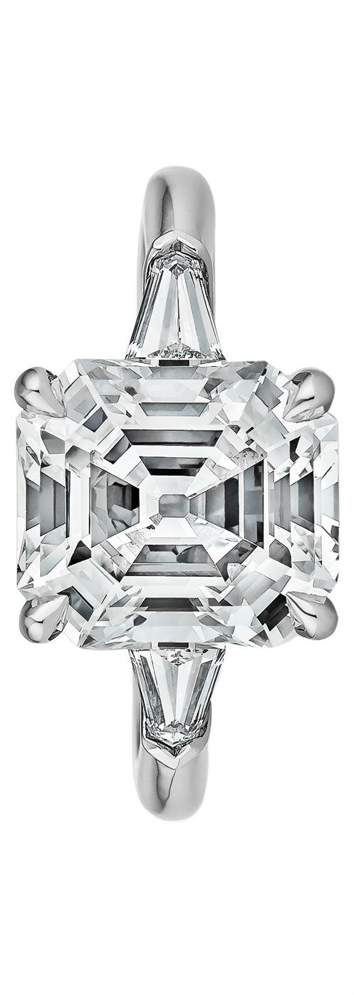 Art Deco Diamond Engagement Ring via Haute Tramp