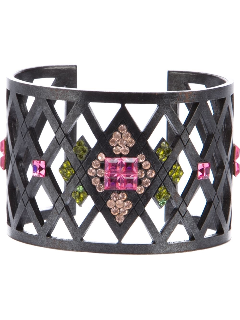 {{Vintage Costume Jewelry Love} Vintage 'Corset' lattice cuff  by Givenchy}