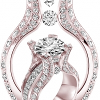 {Daily Jewel} Huge Diamond Ring in Blushing Gold by Claude Thibaudeau