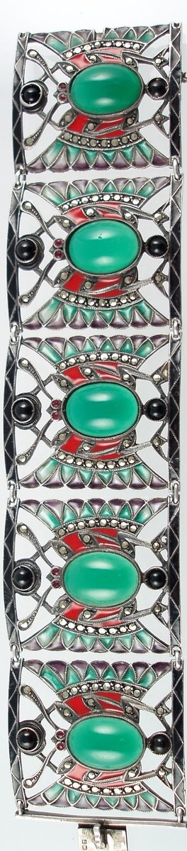 Art Deco Egyptian Revival Bracelet