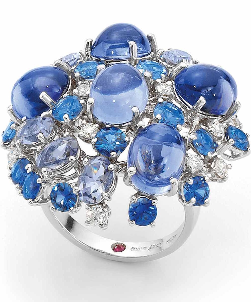 {Daily Jewel} Sapphire and Ruby Ring by Roberto Coin via Haute Tramp