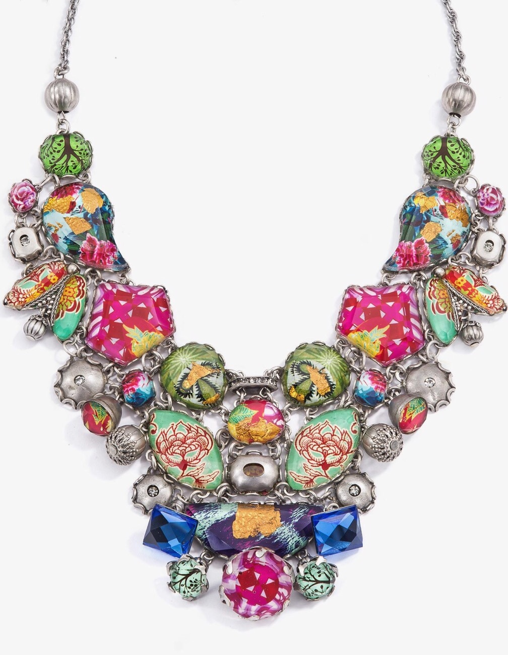 {Smitten} Summer 2015 Radiance Necklace In Pops of Pink Jeweled Hues by Ayala Bar via Haute Tramp