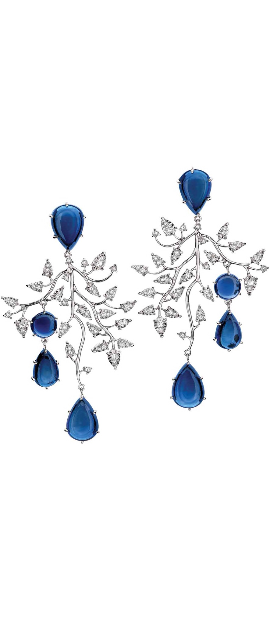 {Daily Jewel} Topaz and diamond earrings by Brumani
