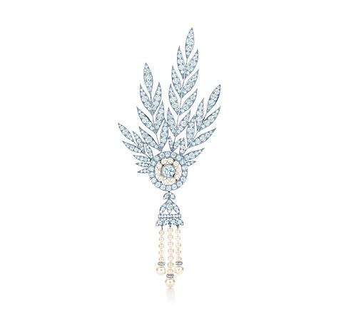 Diamond and Pearl Brooch from the Savoy Headpiece, The Great Gatsby Collection, Tiffany & Co.