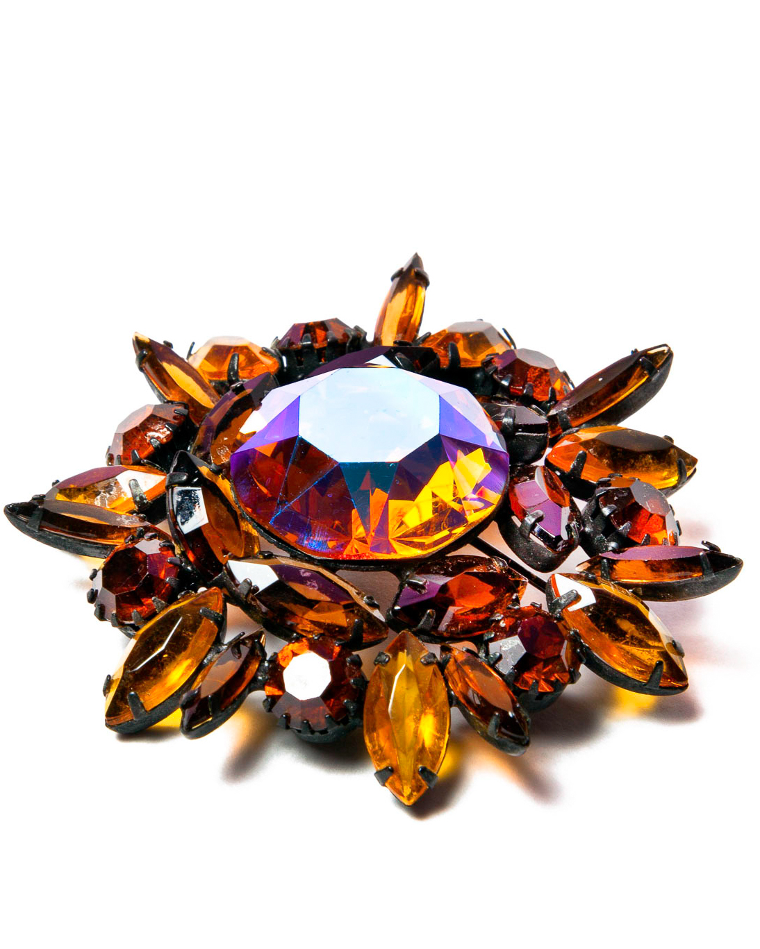 Juliana D&E Japanned Sunflower Brooch