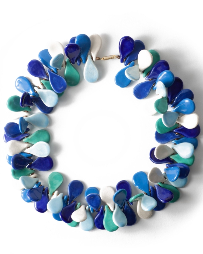 Ocean Glazed Artisan Necklace, circa 1970's