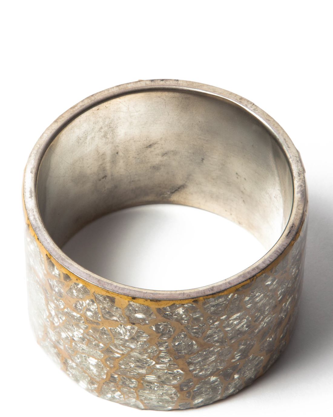 Silver and Gold Mosaic Bracelet