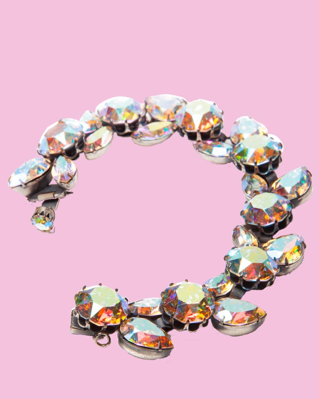 Silver Sparkle Va Va Voom Vendome Bracelet, circa 1950's
