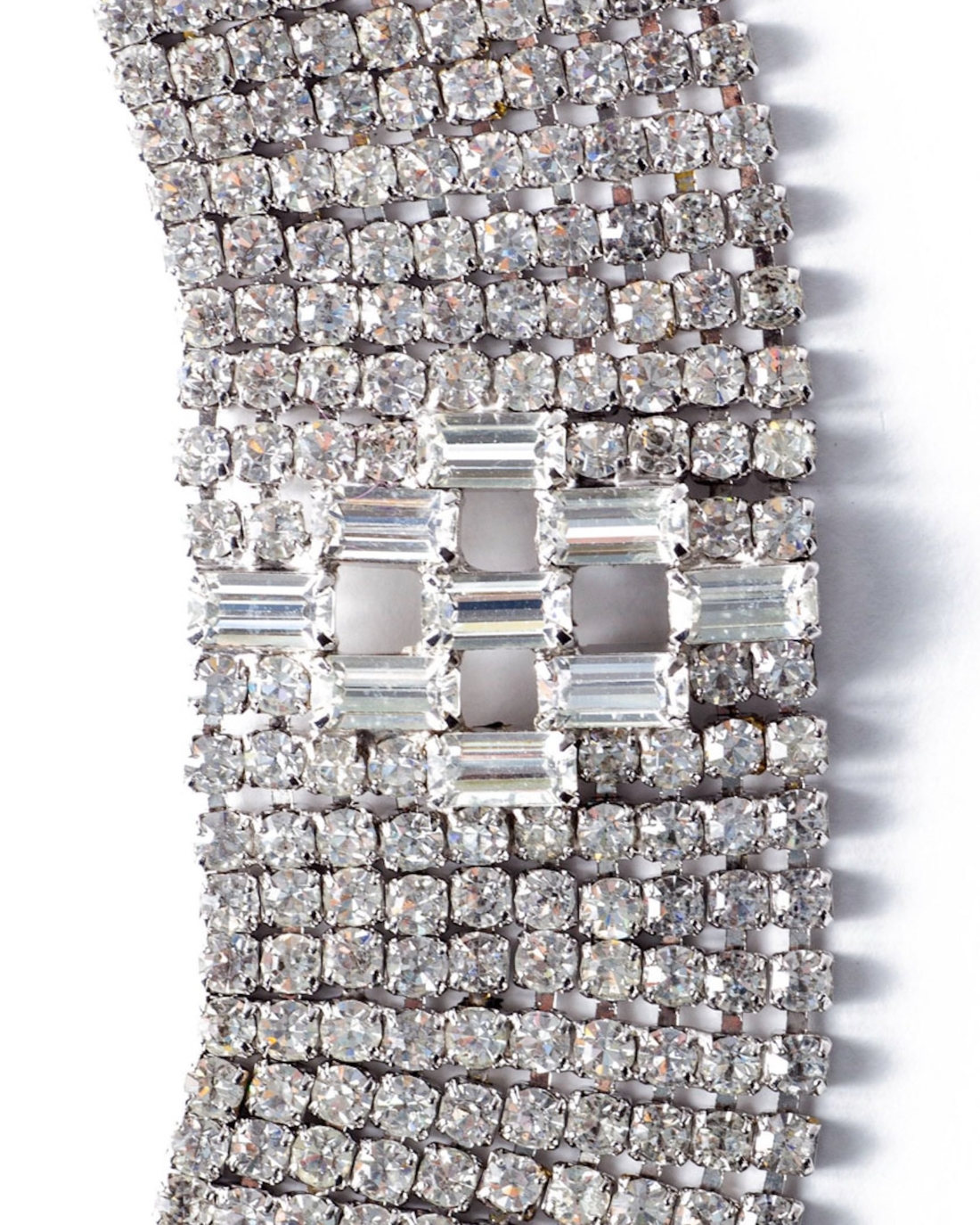Diamante Crystal Mega Wide Bracelet, circa 1950's